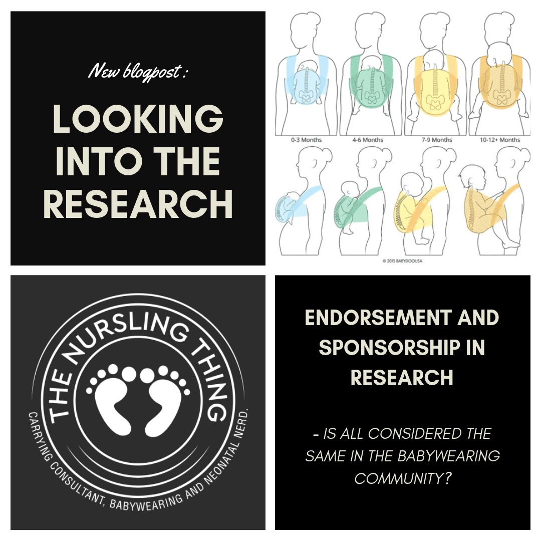 Endorsement and sponsorship in research – is all considered the same in the babywearing community?
